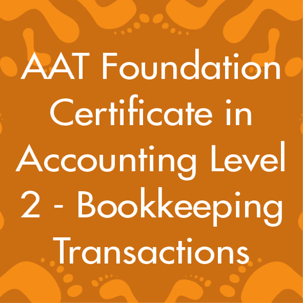 AAT Foundation Certificate in Accounting Level 2 - Bookkeeping ...